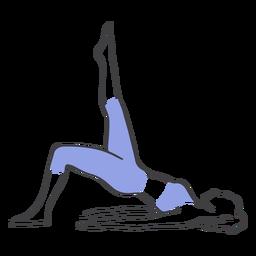 Pilates caderas desde el piso