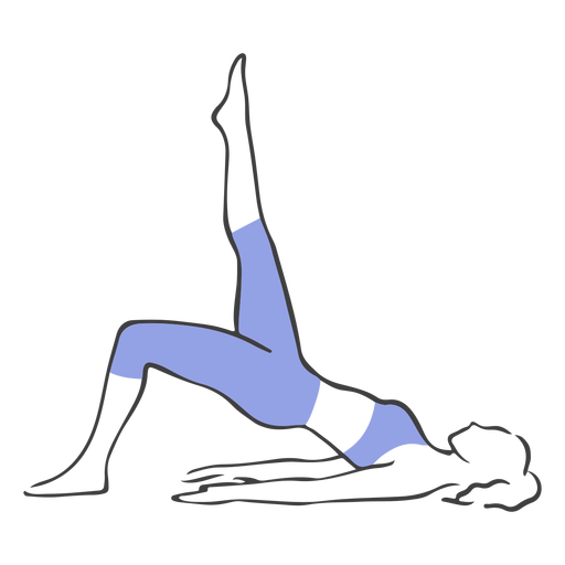 Pilates hips up from floor Transparent PNG