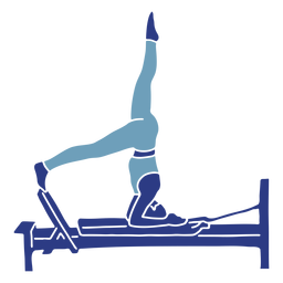 Pilates reformer head stand silhouette