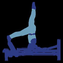 Pilates reformer head stand silueta