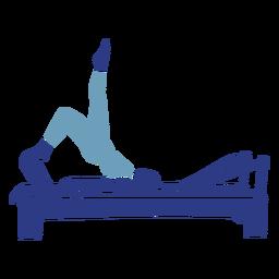 Reformador de Pilates caderas arriba silueta
