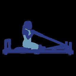 Pilates reformer kneeling silhouette