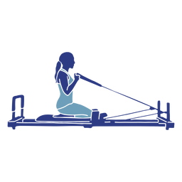 Silueta de rodillas reformador de Pilates