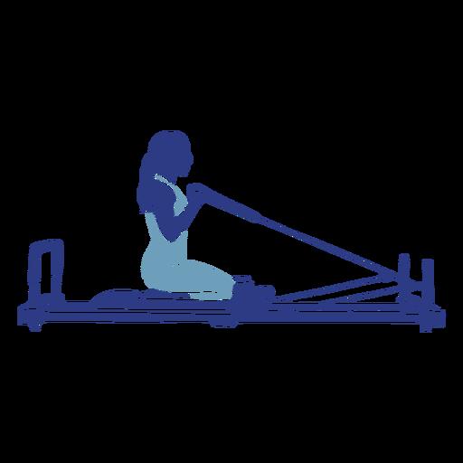 Pilates reformer kneeling silhouette Transparent PNG