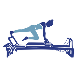 Pilates reformer leg stretch silhouette