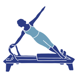 Pilates reformer side silhouette