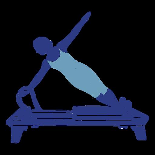 Pilates reformer side silhouette