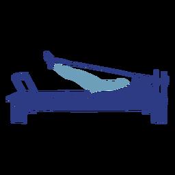 Pilates reformer silhouette