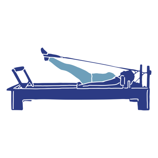 Pilates reformer silhouette Transparent PNG