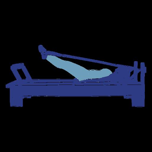 Silueta de reformador de pilates