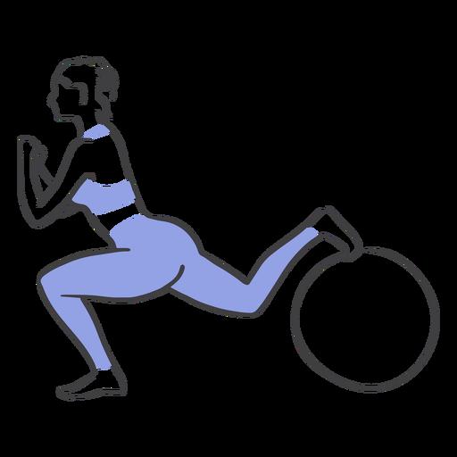 Pilates squat pose Transparent PNG