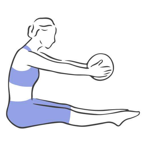 Pilates stretching ball Transparent PNG