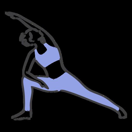 Pilates stretching pose Transparent PNG