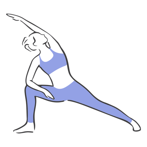 Pilates stretching pose