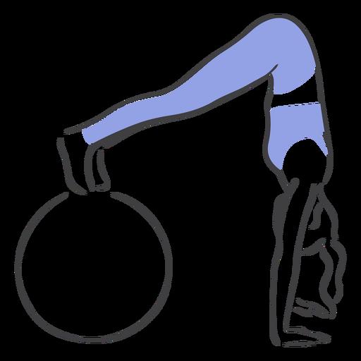 Pilates con pelota de ejercicios Transparent PNG