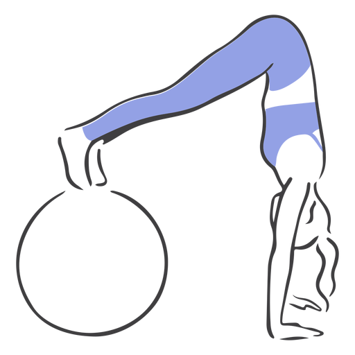 Pilates with exercise ball Transparent PNG