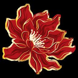 Bonita flor roja china