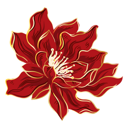 Pretty chinese red flower