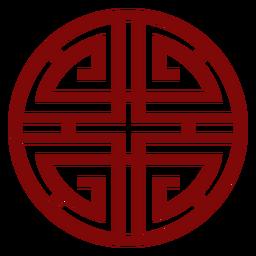 Símbolo chino rojo