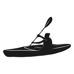 Side view kayak silhouette