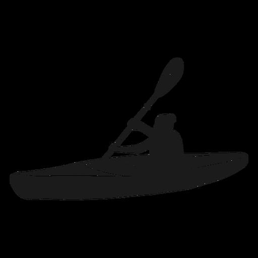 Vista lateral silueta de kayak Transparent PNG
