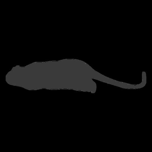 Vista lateral del mouse silueta