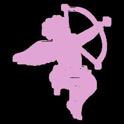Silueta apuntando personaje de Cupido