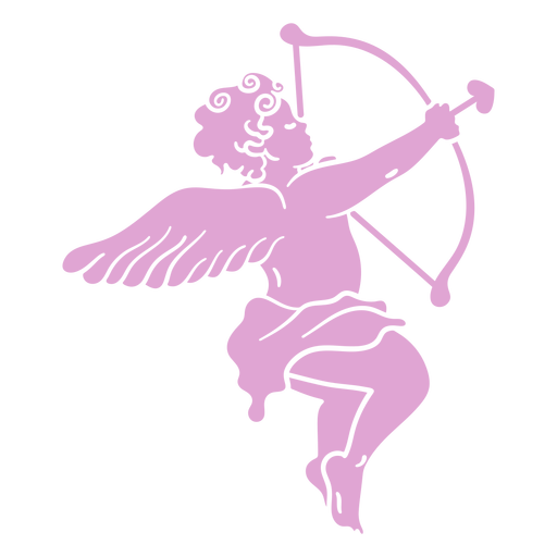Silhouette aiming cupid character