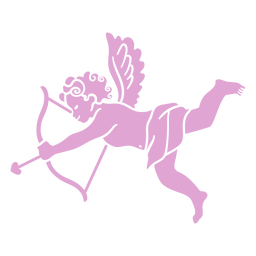 Silhouette cute cupid character