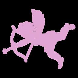 Silueta lindo personaje de Cupido