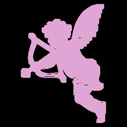 Silueta linda pose de Cupido