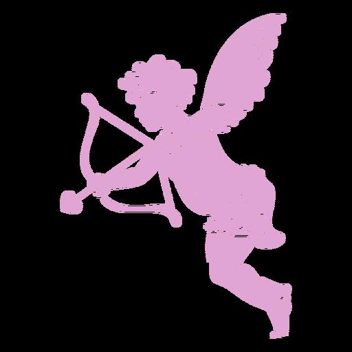 Silhouette cute cupid pose
