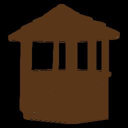 Silueta de cabaña de bambú simple