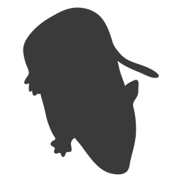 Simple mouse silhouette mouse