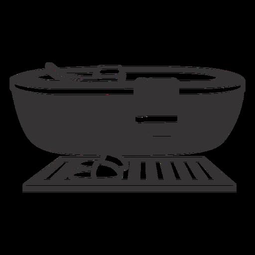 Simple silhouette bathtub Transparent PNG