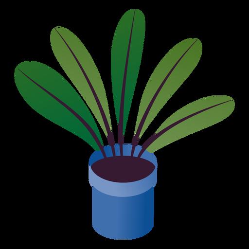 San Valentín simple planta en maceta isométrica Transparent PNG