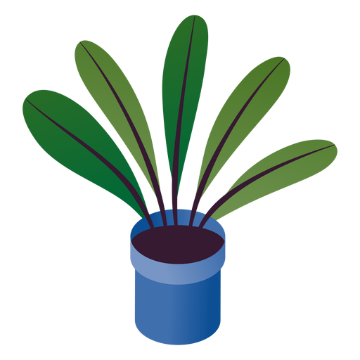 Simple valentines potted plant isometric Transparent PNG