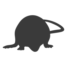 Smelling mouse silhouette