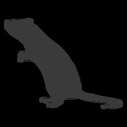 Silhueta de rato em pé