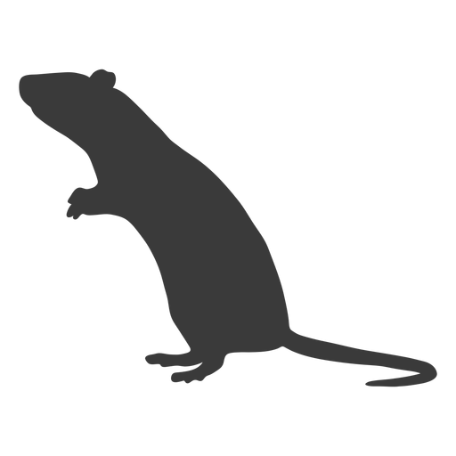 Standing mouse silhouette Transparent PNG