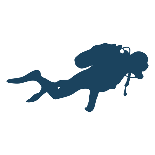 Steady diving silhouette