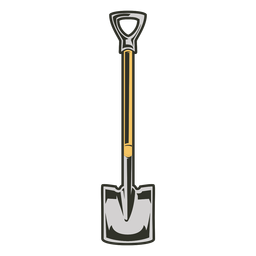 Tools colored shovel