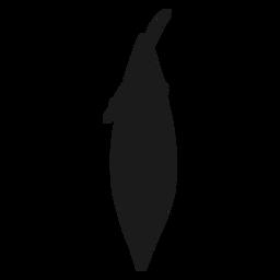 Silhueta de caiaque de vista superior