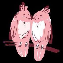 Casal de pássaros dos namorados