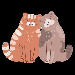 Casal fofo de gatos dos namorados