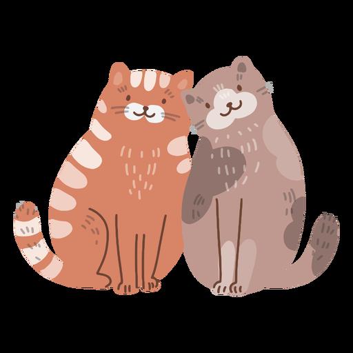 San Valentín gatos linda pareja