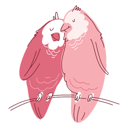 Valentine cute birds couple