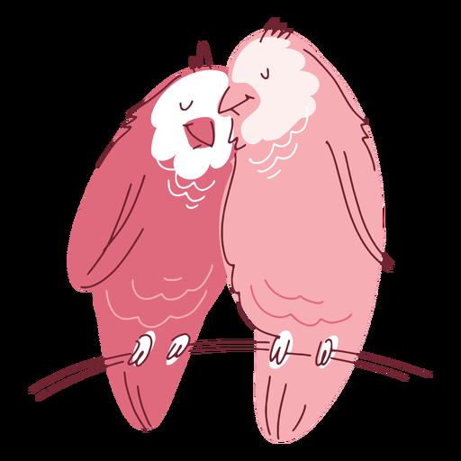 Valentine cute birds couple