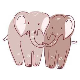 Valentine elephants couple