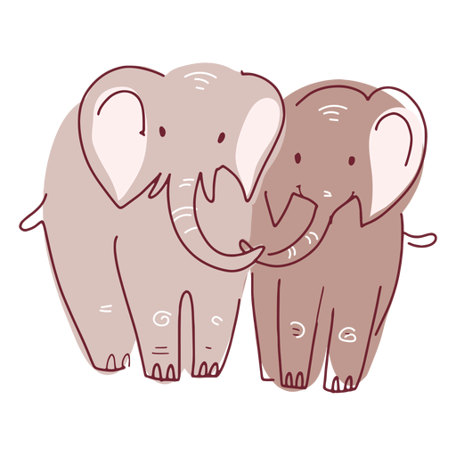 Pareja de elefantes de San Valentín